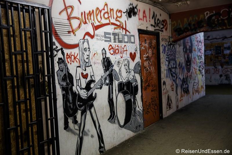 Graffiti im BIGZ Kultgebäude