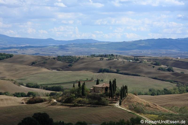 Berühmtes Fotomotiv in der Toskana