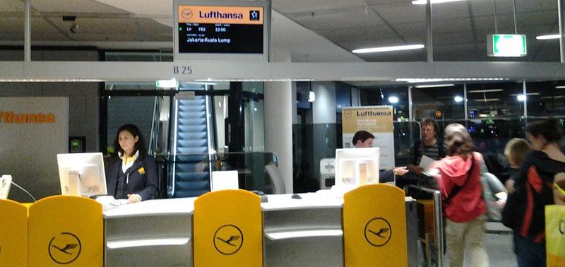 Boarding Frankfurt für LH 782