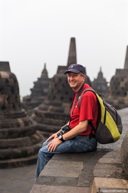 Begeistert in Borobudur zum Sonnenaufgang