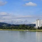 Suite mit Aussicht auf Donau im Arcotel Nike Linz