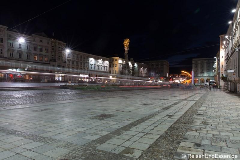 Hauptplatz Linz bei Nacht