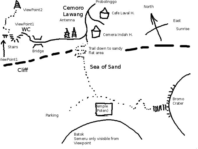 Karte Bromo