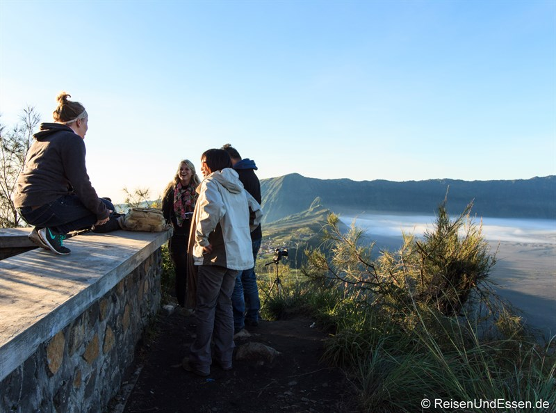 Viewpoint für Sonnenaufgang am Vulkan Bromo