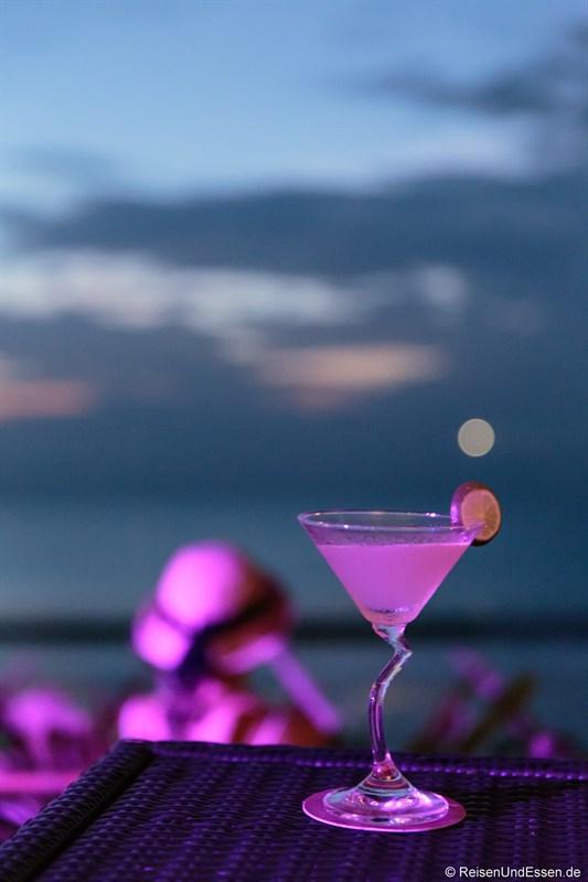 Cocktail in der Sunset Beach Bar
