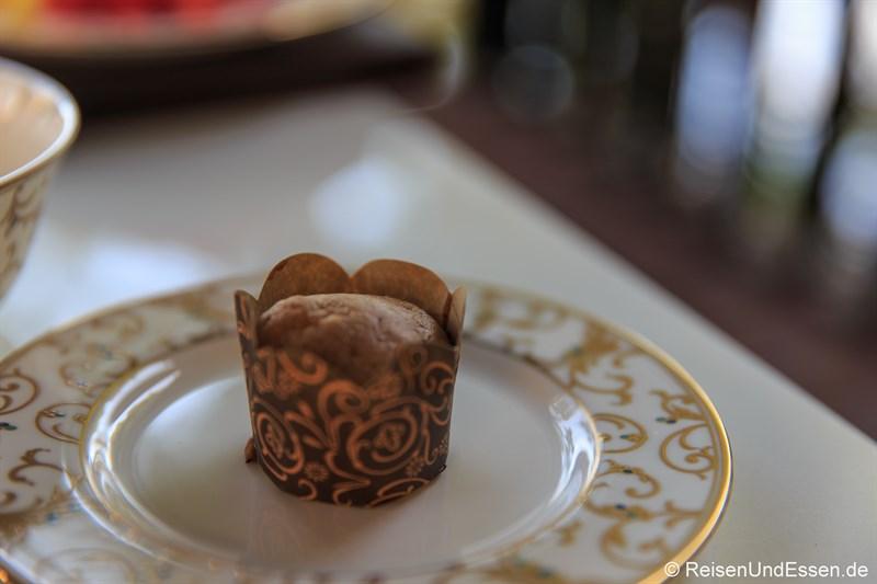 Mini-Muffin beim Frühstück in der Club InterContinental Lounge