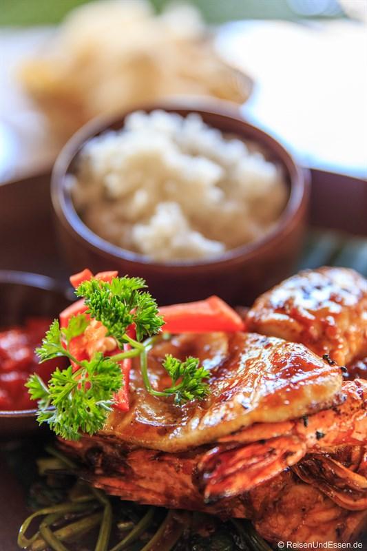 Meeresfrüchte und Fisch vom Grill