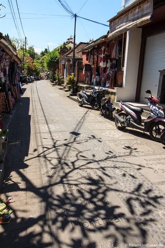 Signature Street in Ubud (Jalan Kajeng)