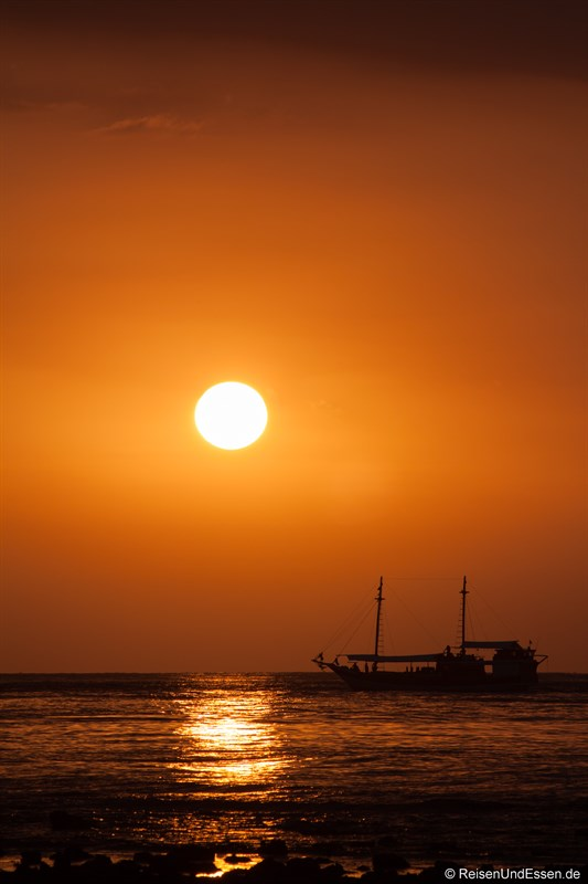 Sonnenuntergang auf Gili Trawangan