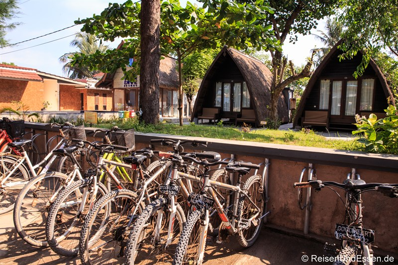 Tipps zu den Gili Inseln - Fahrräder auf Gili Trawangan