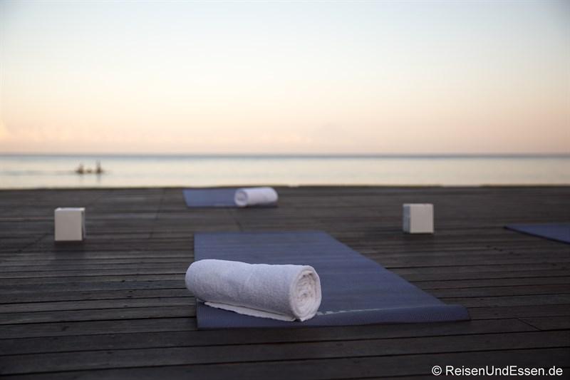 Vorbereitungen für Yoga