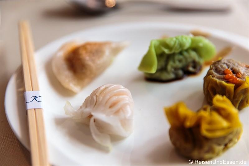 Dim Sum Variationen im Signatures Restaurant