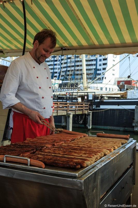 Wurststand auf der Sail 2015 Bremerhaven
