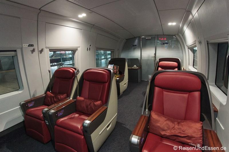 Business Class im CRH Hochgeschwindigkeitszug