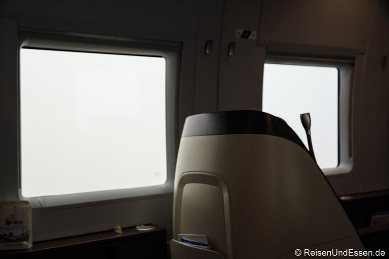 Blick aus dem Fenster bei Smog