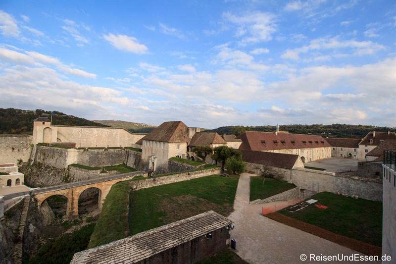 Blick auf die Zitadelle von Besancon