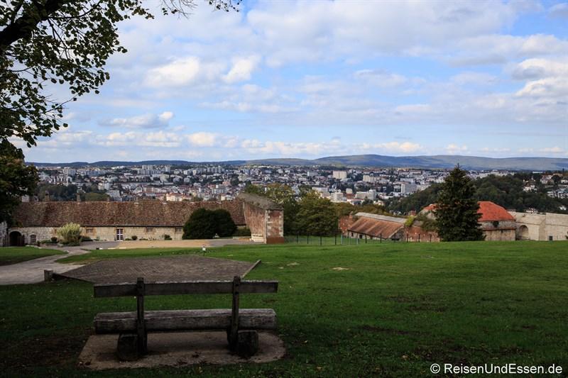 Blick von der Zitadelle auf Besancon