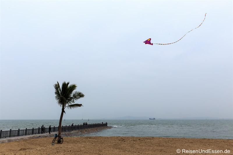 Drachen am Strand von Xiamen