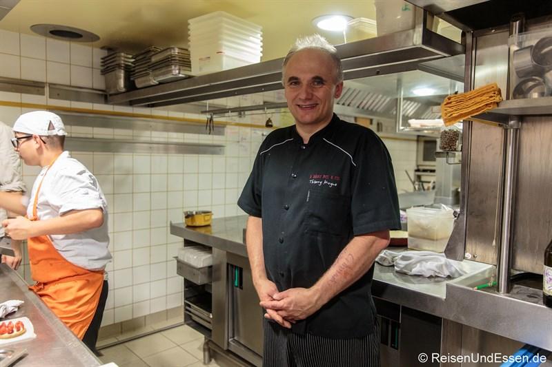 Chefkoch Thierry Moyne im La Balance Mets et Vins in Arbois