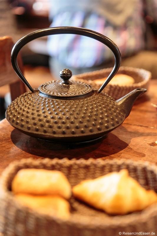 Frühstück im Closerie les Capucines in Arbois