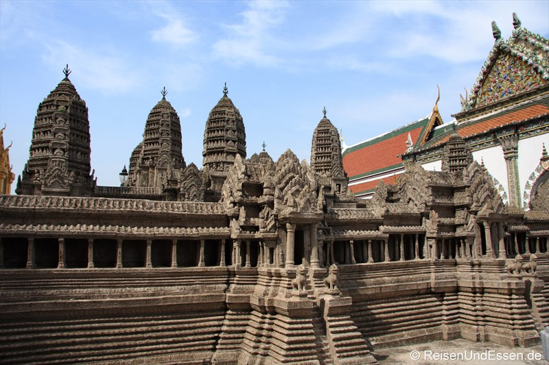 Miniaturmodell von Angkor Wat