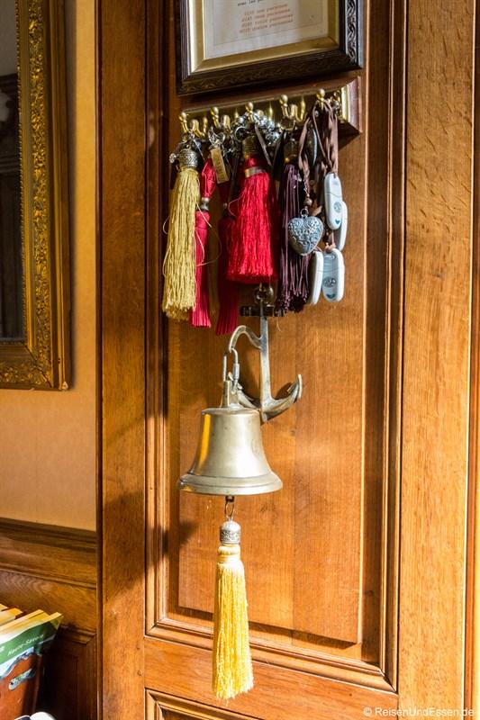 Zimmerschlüssel im Chateau de la Presle