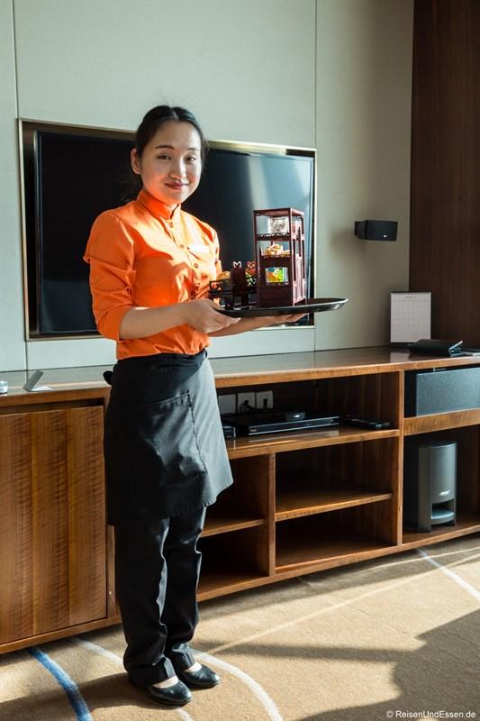 Willkommensgruss im Sunrise Kempinski Hotel Beijing