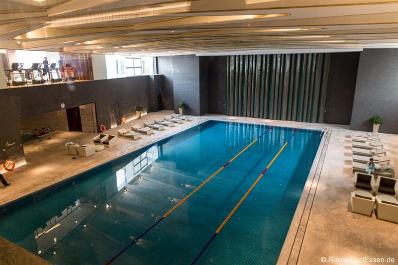 Schwimmbad im Kempinski Hotel Beijing