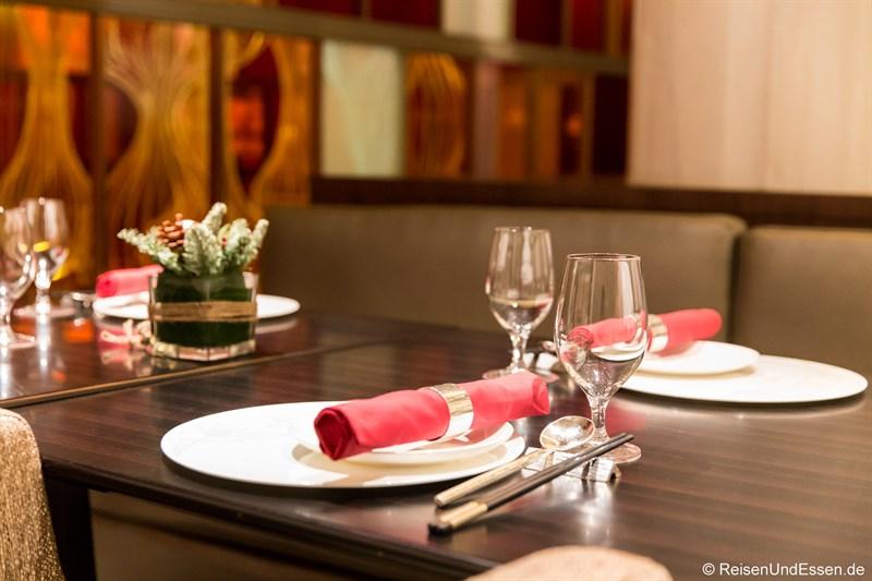 Tisch im chinesischen Restaurant Magnolia
