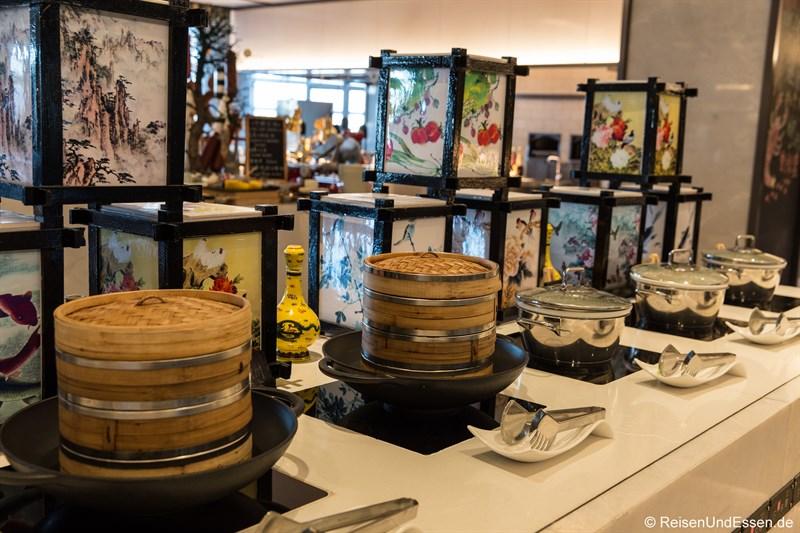 Chinesische Spezialitäten beim Frühstück im Kempinski