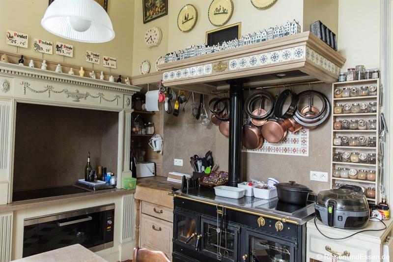 Küche im Chateau de la Presle