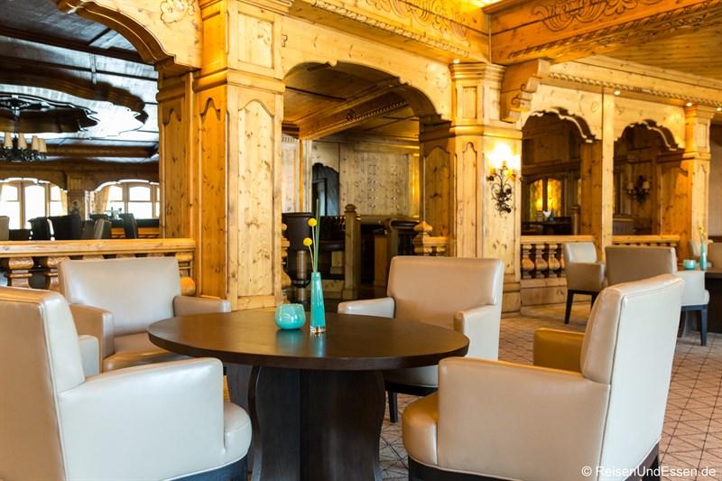 Lobby im Interalpen-Hotel Tyrol