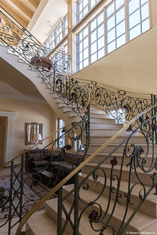 Treppenaufgang im Interalpen-Hotel Tyrol