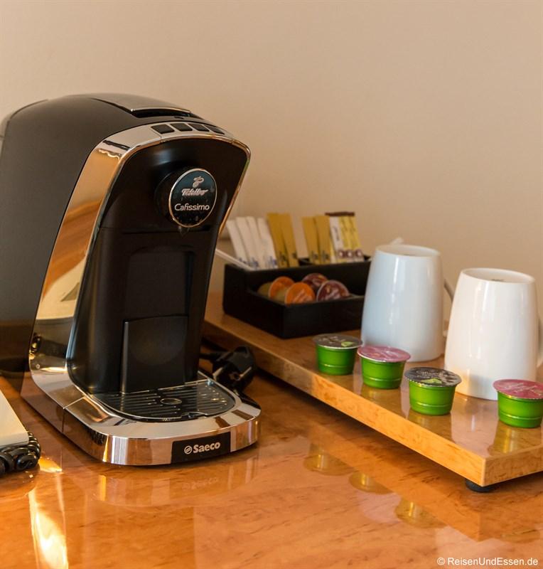 Kaffeemaschine im Superior Zimmer im Maritim Hotel Frankfurt
