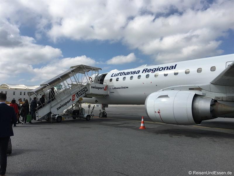 Flug LH 2442 von München nach Kopenhagen