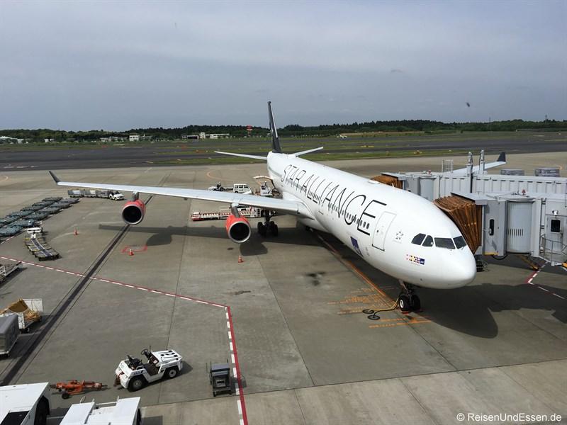 Ankunft von SK983 in Tokio Narita