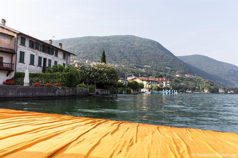 Schwimmender Steg bei Sulzano