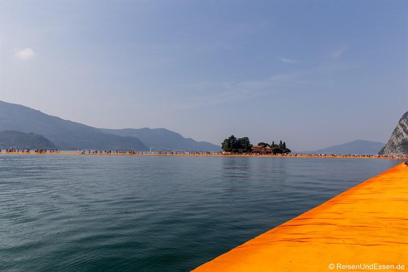 Schwimmender Steg und Isola di San Paolo