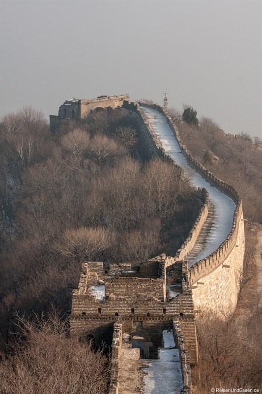 Schneebedeckte chinesische Mauer