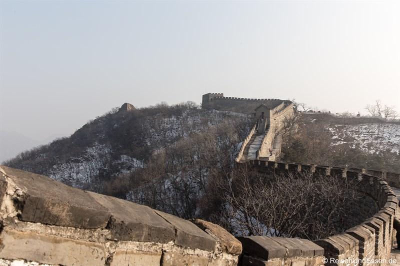 Verlauf der Chinesische Mauer in Mutianyu