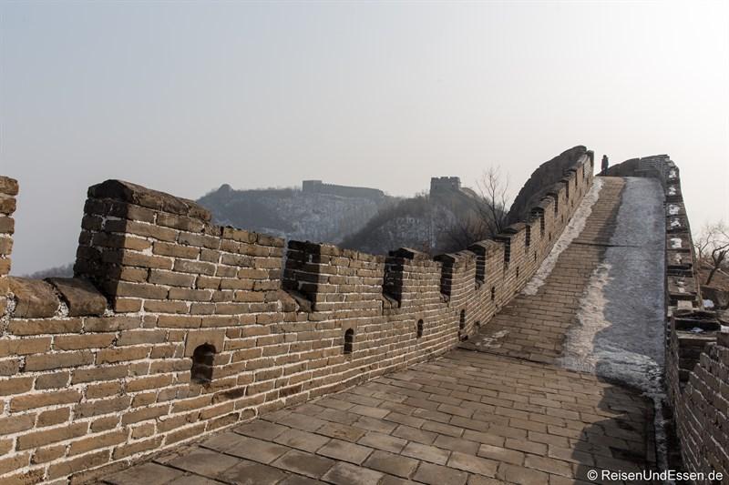 Menschenleere Chinesische Mauer