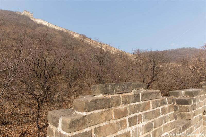 Steiler Anstieg der Chinesischen Mauer