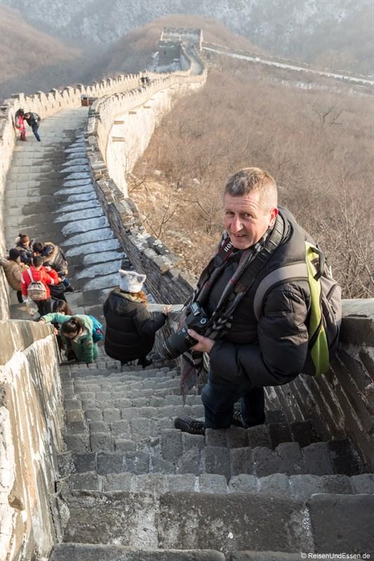 Abstieg der Chinesischen Mauer