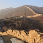 Menschenleere Chinesische Mauer in Mutianyu