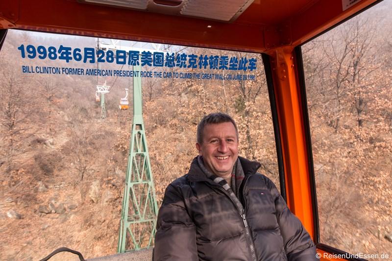 Gondel zur Chinesischen Mauer in Mutianyu