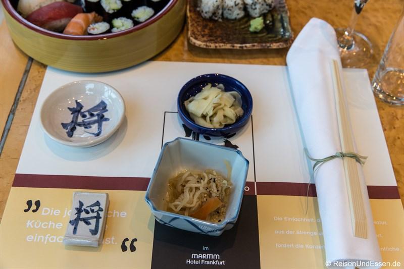 Tisch im Restaurant SushiSho