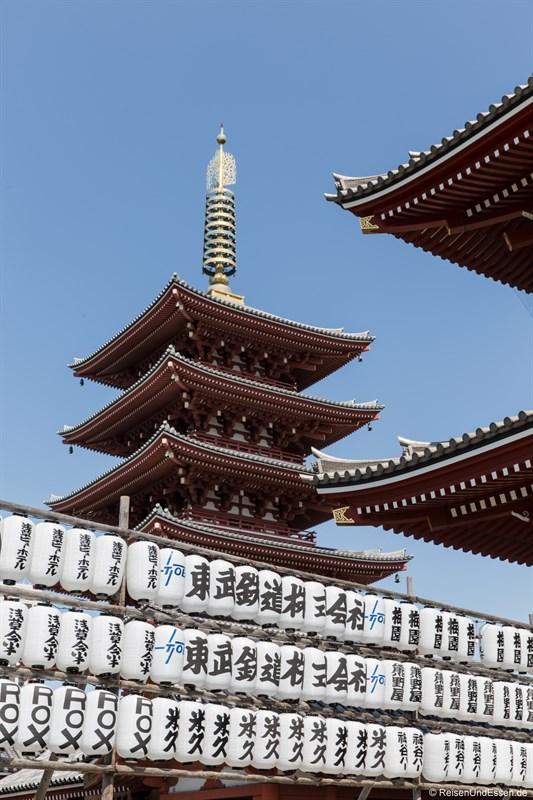 Lampions am Senso-ji Tempel und Pagode