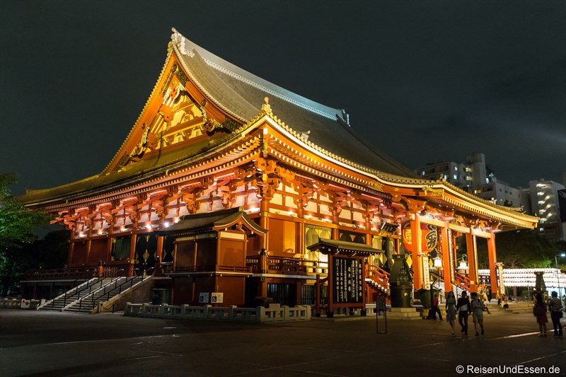 Senso-ji Tempel bei Nacht