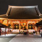 Asakusa in Tokio bei Tag und Nacht