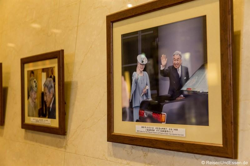 Besuch des Kaisers im Hotel